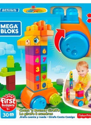 Zdjęcie Megablocks - Żyrafka z klockami - Licz i jedź - producenta MATTEL