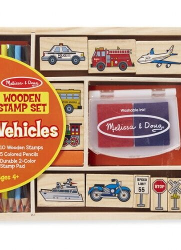 Zdjęcie Melissa & Doug - Drewniane pieczątki Pojazdy - producenta MELISSA & DOUG