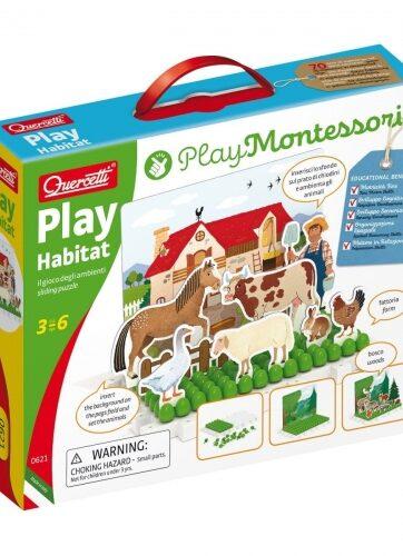 Zdjęcie Montessori Play - Układanka magnetyczna zabawa ze środowiskiem - producenta QUERCETTI