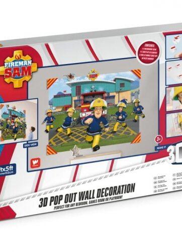 Zdjęcie Naklejka na ścianę 3D Strażak Sam