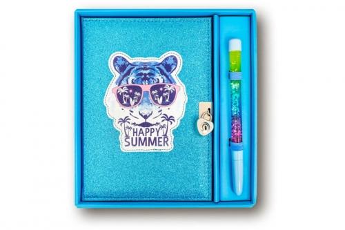 Zdjęcie Pamiętnik brokatowy z długopisem Tygrys - Stnux - producenta STNUX