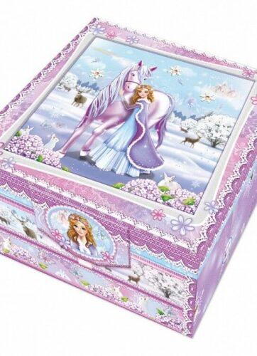 Zdjęcie Pamiętnik z akcesoriami w ozdobnym pudełku z szufladką Koń - producenta PULIO