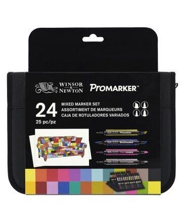 Zdjęcie Pisaki 24 kolory Mixed Marker Winsor & Newton - producenta KWADRATURA KOŁA