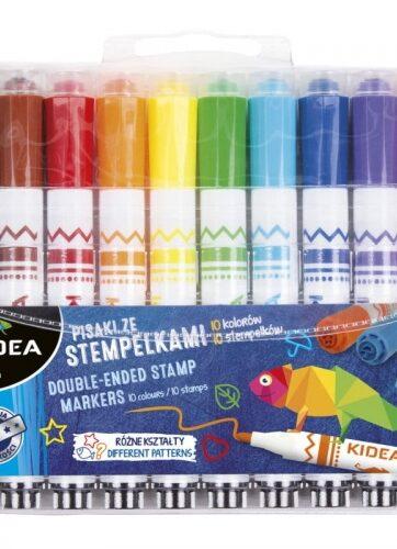 Zdjęcie Pisaki ze stempelkami 10 kolorów - Kidea - producenta DERFORM