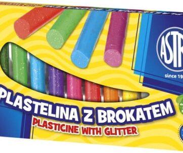Zdjęcie Plastelina 12 kolorów brokatowa ASTRA - producenta ASTRA