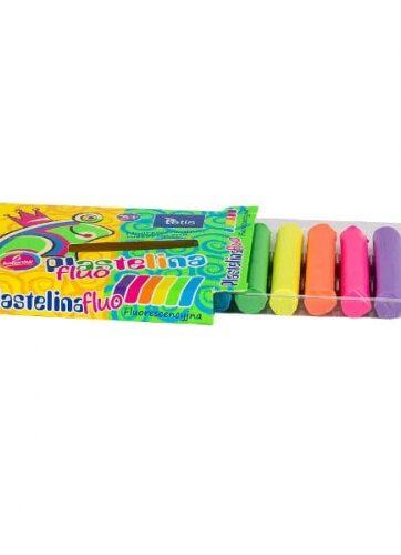 Zdjęcie Plastelina fluorescencyjna 6 kolorów - producenta TETIS