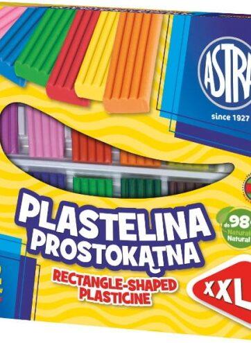 Zdjęcie Plastelina prostokątna 12 kolorów XXL Astra - producenta ASTRA