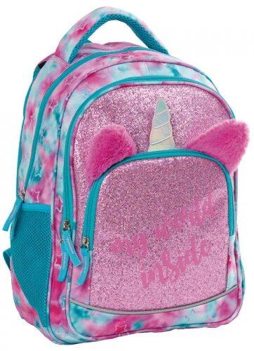 Zdjęcie Plecak dziewczęcy BackUp Brokatowy Jednorożec - producenta DERFORM