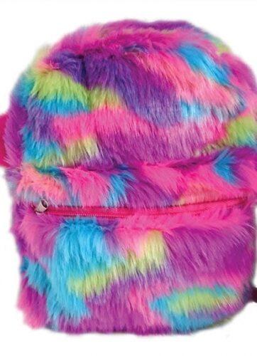 Zdjęcie Plecak pluszowy kolorowe futro - producenta STNUX