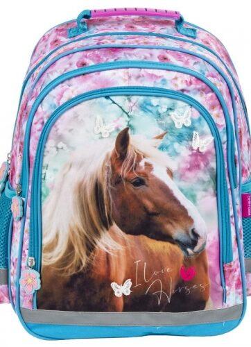 Zdjęcie Plecak szkolny dwukomorowy Konie - Derform - producenta DERFORM