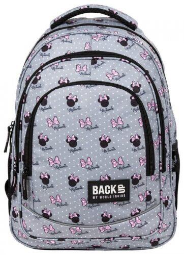Zdjęcie Plecak trzykomorowy szkolny BackUp Minnie szary - producenta DERFORM