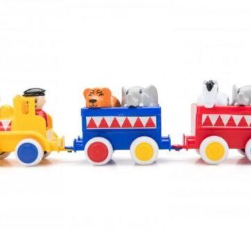 Zdjęcie Pociąg kolejka z wagonikami i figurkami - Viking Toys - producenta VIKING TOYS