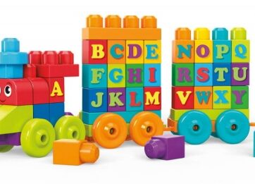 Zdjęcie Pociąg z klocków ABC literki - Mega Bloks - producenta MATTEL