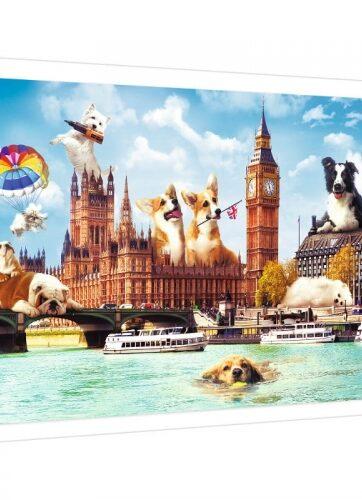 Zdjęcie Puzzle 1000 elementów - Psy w Londynie - Trefl - producenta TREFL