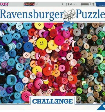 Zdjęcie Puzzle 1000el Challenge Kolorowe guziki - producenta RAVENSBURGER