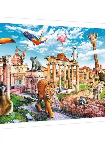 Zdjęcie Puzzle 1000el Funny cities - Dziki Rzym Trefl - producenta TREFL