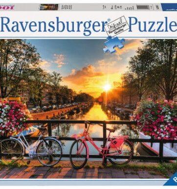Zdjęcie Puzzle 1000el - Rowery w Amsterdamie - Ravensburger - producenta RAVENSBURGER