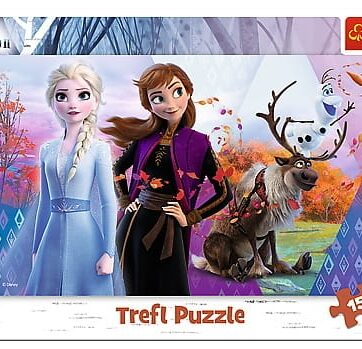 Zdjęcie Puzzle 15el ramkowe Magiczny świat Anny i Elsy. Frozen 2 Trefl - producenta TREFL