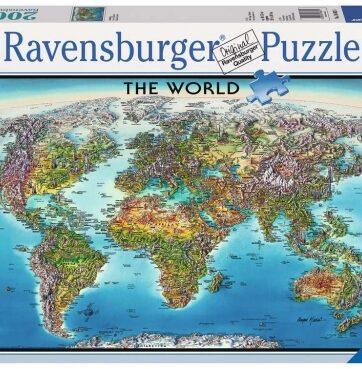 Zdjęcie Puzzle 2000el Mapa świata - Ravensburger - producenta RAVENSBURGER