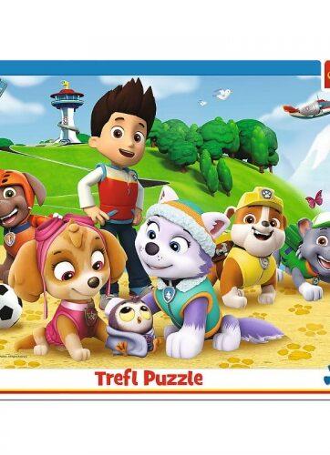 Zdjęcie Puzzle 25el ramkowe Psi Patrol na tropie - Trefl - producenta TREFL