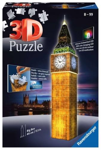 Zdjęcie Puzzle 3D 216el Big Ben Nocą - Ravensburger - producenta RAVENSBURGER