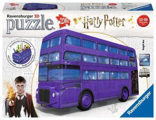 Zdjęcie Puzzle 3D 216el Harry Potter Błękitny autobus - producenta RAVENSBURGER