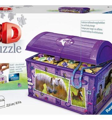 Zdjęcie Puzzle 3D 216el Szkatułka - Konie - producenta RAVENSBURGER