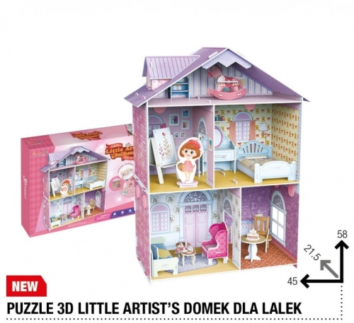 Zdjęcie Puzzle 3D Domek dla lalek 160el - producenta DANTE