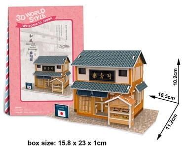 Zdjęcie Puzzle 3D Domki świata-Japonia. Sushi house 32el - producenta DANTE