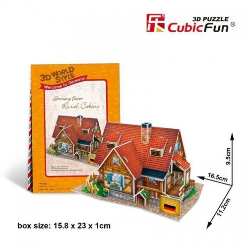 Zdjęcie Puzzle 3D Domki świata-Niemcy. Rural cabin 37el - producenta DANTE