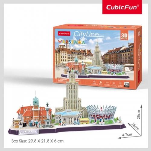 Zdjęcie Puzzle 3D - Warszawa Cityline - producenta DANTE