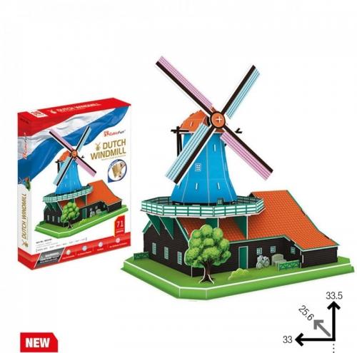 Zdjęcie Puzzle 3D duży zestaw Wiatrak Holenderski - producenta DANTE