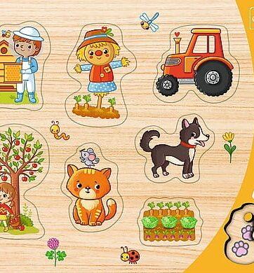 Zdjęcie Puzzle ramkowe układanki kształtowe - Wieś Trefl - producenta TREFL