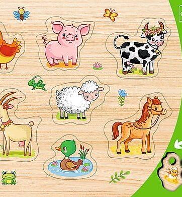 Zdjęcie Puzzle ramkowe układanki kształtowe - Zwierzęta na wsi Trefl - producenta TREFL
