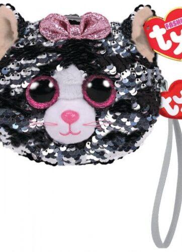 Zdjęcie TY Fashion Sequins KIKI - cekinowa torba na nadgarstek kot - producenta TY INC.