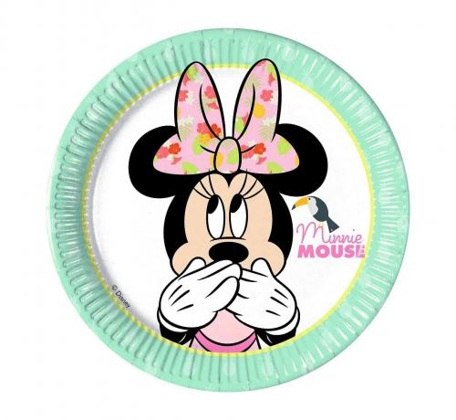 """Zdjęcie Talerzyki papierowe """"Minnie Tropical Disney"""" 20cm"""