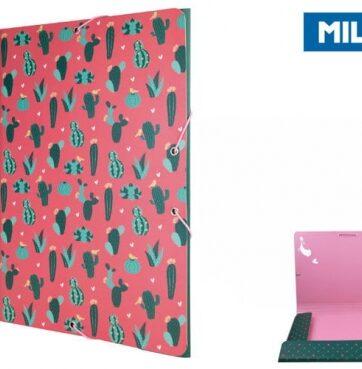Zdjęcie Teczka A4 z gumką cienka Cactus - Milan - producenta MILAN