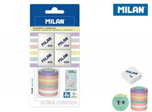 Zdjęcie Temperówka Sugar + 4 gumki Milan - producenta MILAN