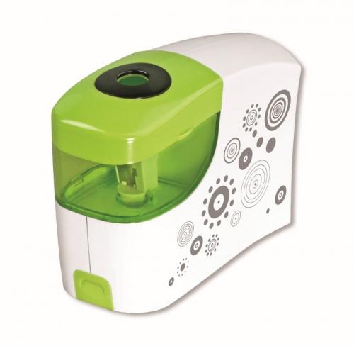Zdjęcie Temperówka na baterie zielono-biała - producenta TETIS
