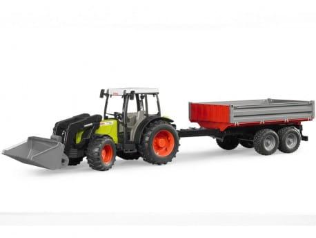 Zdjęcie Traktor Claas Nectis 267F z ładowarką i przyczepą Bruder 02112 - producenta BRUDER