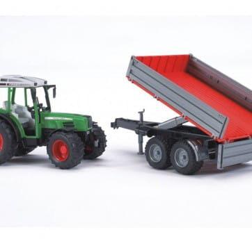 Zdjęcie Traktor Fendt 209 S z przyczepą wywrotką Bruder 02104 - producenta BRUDER
