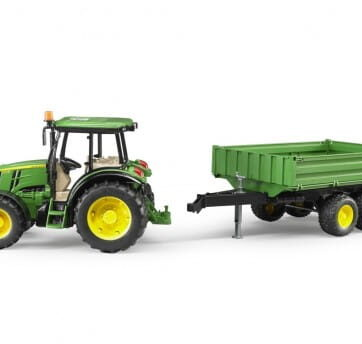 Zdjęcie Traktor John Deere 5115M z przyczepą wywrotką Bruder 02108 - producenta BRUDER