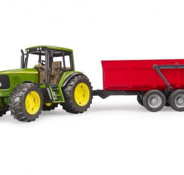 Zdjęcie Traktor John Deere 6920 z czerwoną przyczepą wywrotką 02057 Bruder 02057 - producenta BRUDER
