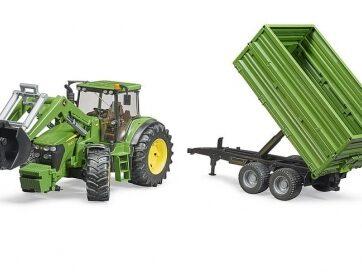 Zdjęcie Traktor John Deere 7930 z ładowarką i przyczepą 2-osie Bruder 03055 - producenta BRUDER