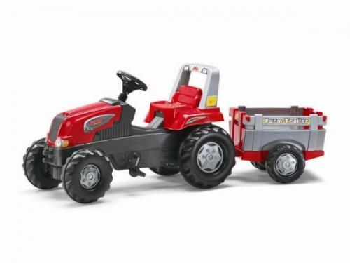 Zdjęcie Traktor Junior czerwony z przyczepą - producenta ROLLY TOYS