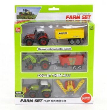 Zdjęcie Traktor z przyczepą x 3 w pudełku 504714 - producenta ADAR