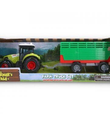 Zdjęcie Traktor z przyczepą zielony - producenta GAZELO