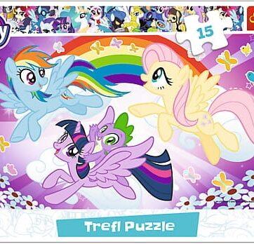 Zdjęcie Trefl Puzzle 15el ramkowe Zabawa kucyków My Little Pony - producenta TREFL