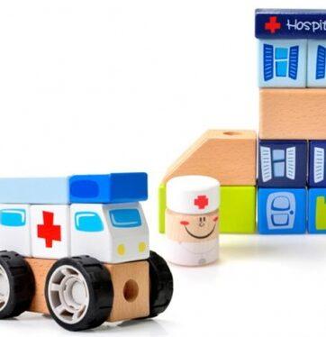 Zdjęcie Układanka drewniana szpital - producenta BRIMAREX