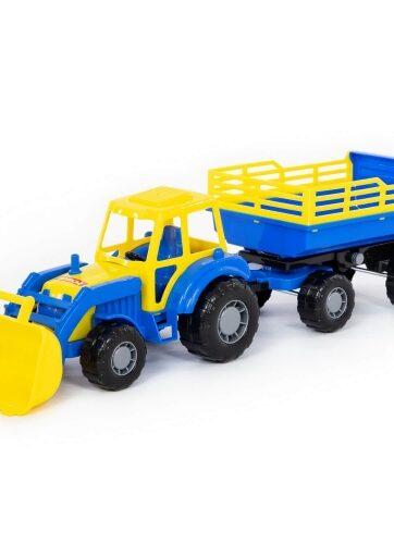 Zdjęcie Wader-Polesie traktor z przyczepą i koparką Master - producenta POLESIE